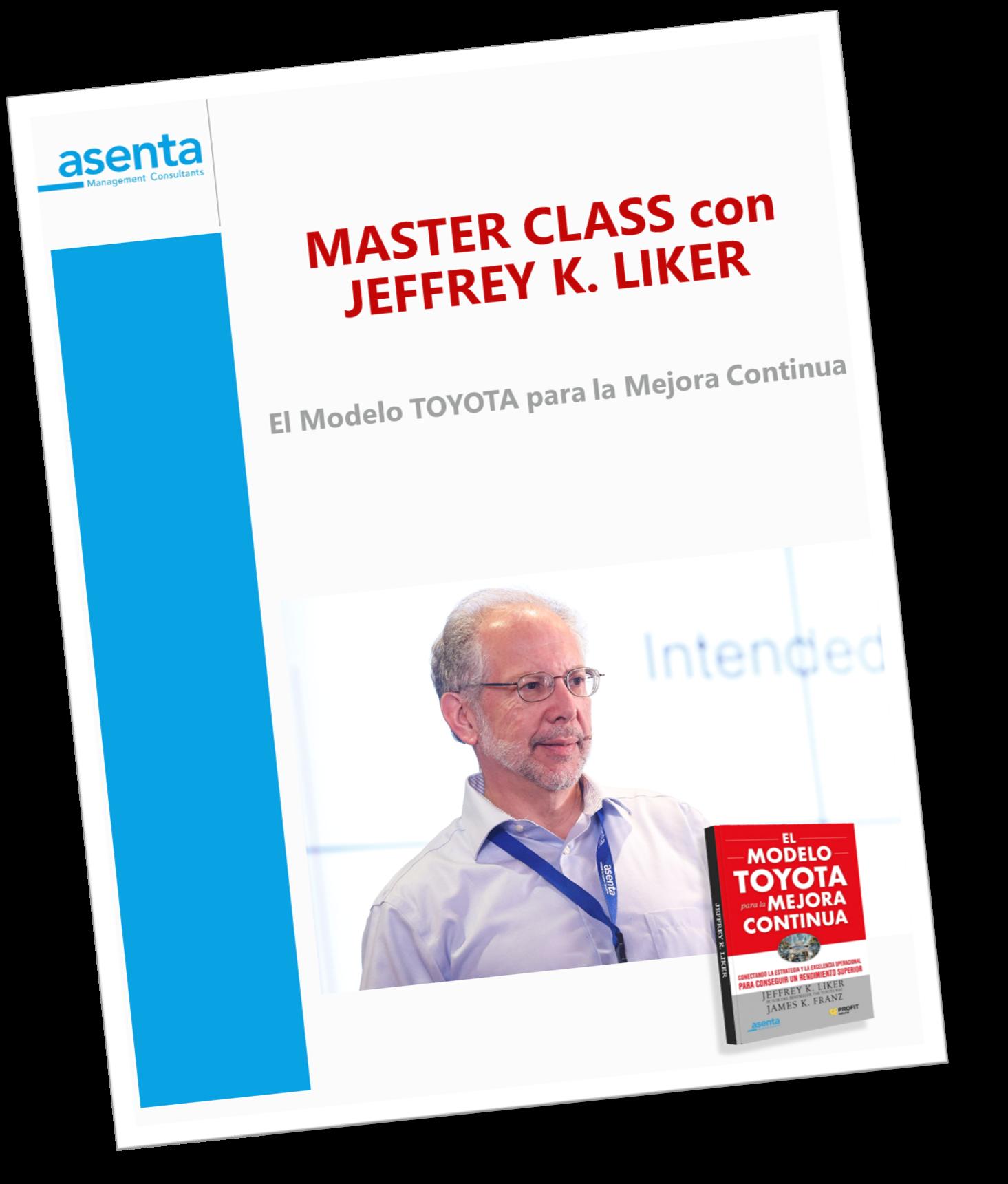Portada programa Master Class Jeff Liker