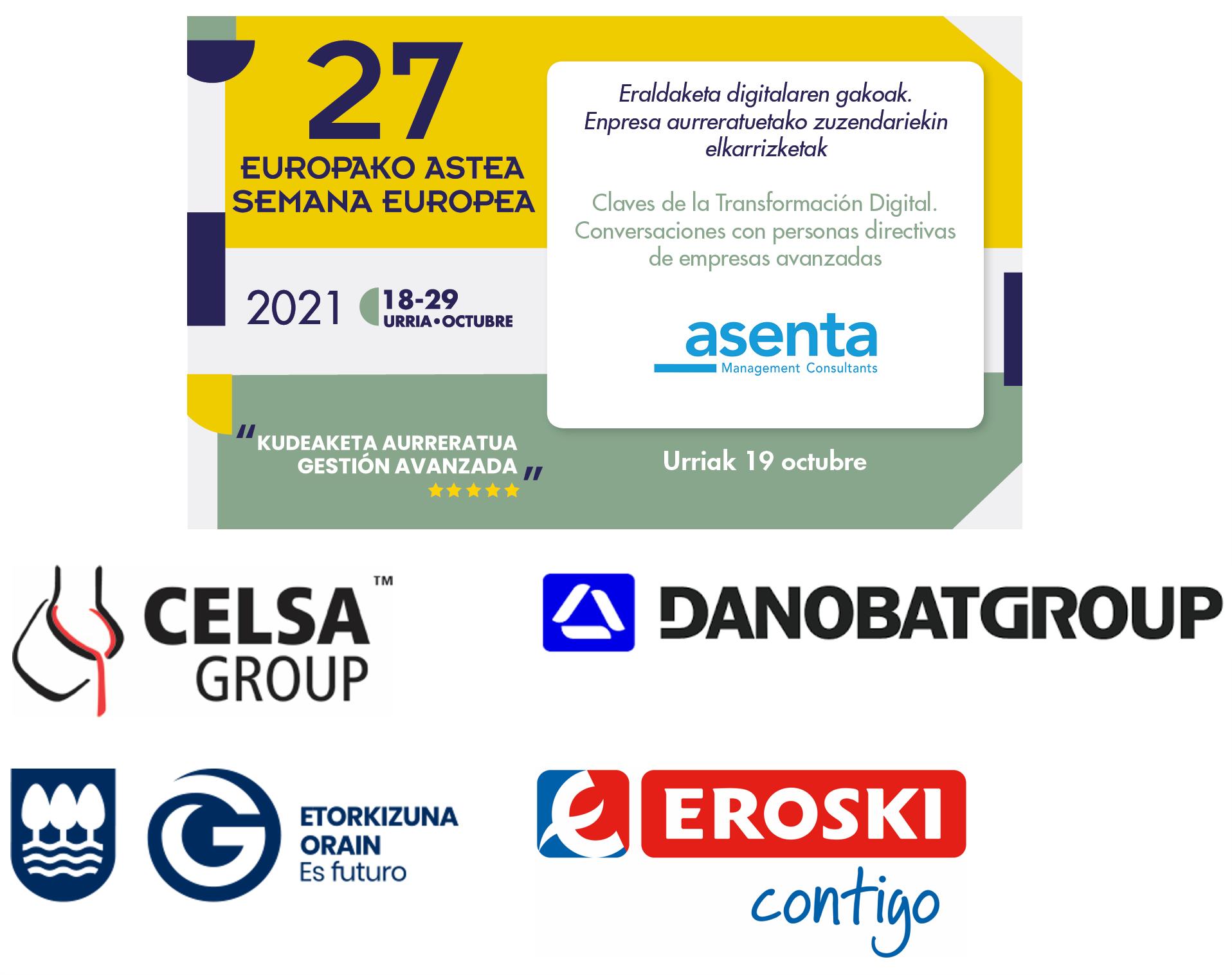 Semana Europea Gestion Avanzada-ASENTA y Celsa Group-Danobat-Diputacion Foral Gipuzkoa-Eroski